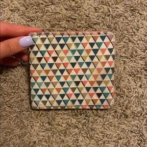 multi colored snap wallet